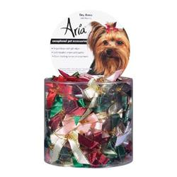 Aria Tiny Bows w/Gold Bead Canister, 100-Pieces