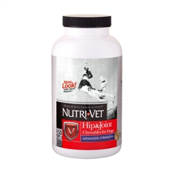 Nutri-Vet Hip & Joint Advanced Strength Chewables - 500mg GS, 400mg CS, 50mg MSM, 6mg HA - 150 ct.