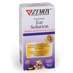 Zymox Ear Solution .5%Hydrocort 1.25oz