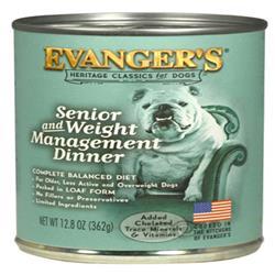 Evanger's Heritage Classic Senior/Weight Management Wet Dog Food Chicken 12ea/12.8 oz, 12 pk