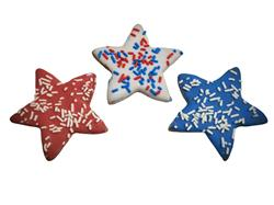 Red, White, & Blue Stars - Tray of 12