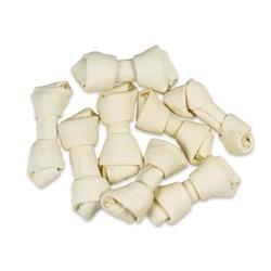 4-5'' Natural White Knotted Rawhide Bones Dog Chew Treats