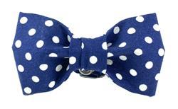 Bow Tie - Navy/White Polka Dot Dog Bowtie