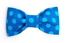 Bow Tie - Big Blue Polka Dot