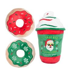 Bro! Bro! Bro! Puppuccino and Donuts 3pk by FuzzYard