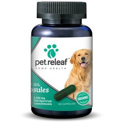 CBD Hemp Oil Capsules 450 mg (30 capsules for large breed dogs) by Pet Releaf - COPY
