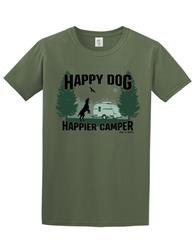 T-shirt: Happy Dog Happier Camper (unisex)