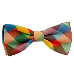 Fall Check Bow Tie by Huxley & Kent