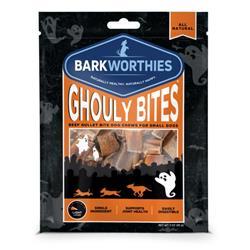 Ghouly Bites Pumpkin Flavored Beef Gullet Bites 3 oz by Barkworthies