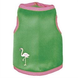 Kelly Green & Pink Palm Beach Tank by Ruff Ruff Couture®