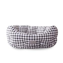 Painted Gingham Round Cuddler Pet Bed