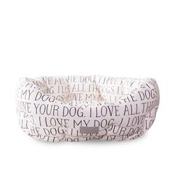 Julianna Swaney All The Dogs Round Cuddler Pet Bed