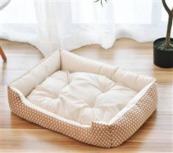 Cuddle Dog Bed (Tan/Brown)