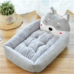 Cute Cartoon Character Pet Bed (Gray)