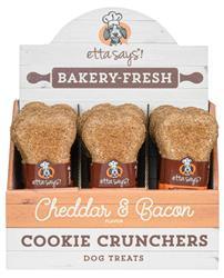 Etta Says! Cheddar & Bacon Cookie Cruncher, 1oz, Box of 24