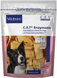 C.E.T. Enzymatic Oral Hygiene Chews for Dogs (30 Count)