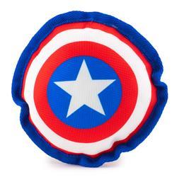 Dog Toy Ballistic Squeaker - Captain America Shield Red/White/Blue/White