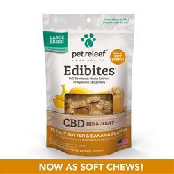 Edibites Hip & Joint Peanut Butter Banana by Pet Releaf