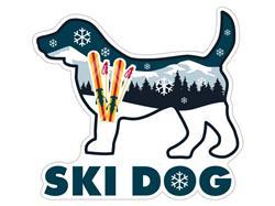 """Ski Dog - 3"""" Sticker"""