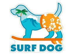 """Surf Dog - 3"""" Sticker"""