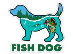 "Fish Dog - 3"" Sticker"