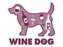 """Wine Dog - 3"""" Sticker"""