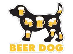 """Beer Dog - 3"""" Sticker"""