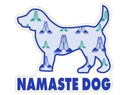 """Namaste  Dog - 3"""" Sticker"""