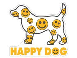 "Happy  Dog - 3"" Sticker"