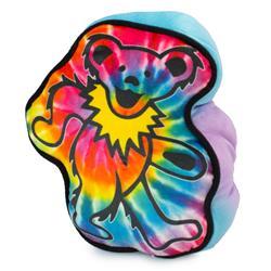 Dog Toy Squeaker Plush - Grateful Dead Dancing Bear Tie Dye Multi Color