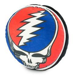 Dog Toy Squeaker Plush - Grateful Dead Steal Your Face Skull + GOOD OL GRATEFUL DEAD