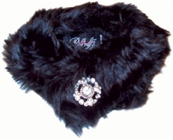 Faux Mink Stole Black by Ruff Ruff Couture®