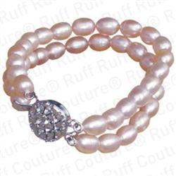 Fresh Water Pink Pearls Necklace by Ruff Ruff Couture®