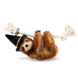 Witchy Sloth On A Rope Plush Dog Toy