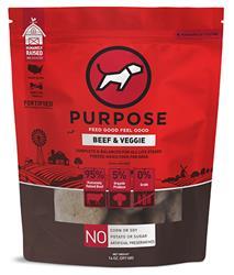 Purpose Freeze-Dried Beef & Veggie Dog Food, 14oz. Pattys