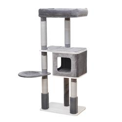 Petpals, Oasis 4 level Cat tree with paper rope scratching post, massager, condo and perch