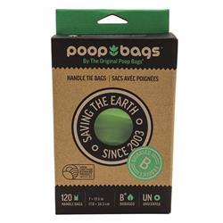 The Original Poop Bags® Handle Tie Waste Bags (120 CT) Box
