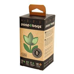 The Original Poop Bags® Orange Scented USDA Biobased Rolls (120 CT) Box