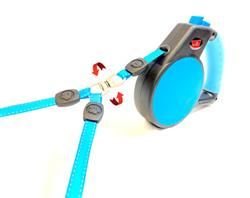 2 Dog Retractable Leash, 360 Degree No Tangles - 18 ft Total Distance with Coupler - 110lbs Total Weight of Both Dogs