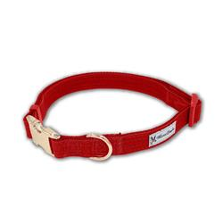 Red Fabric Dog Collars & Leashes by Warren London