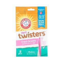 Arm & Hammer Twisters Fresh Breath Dental Treats - Strawberry