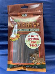 """6"""" 8 Pack Rolled Esophagus Jerky"""