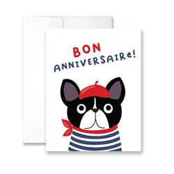 Bon Anniversaire - Package of Six Greeting Cards