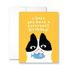 Hope You Have A Purrr-fect Birthday - Package of Six Greeting Cards
