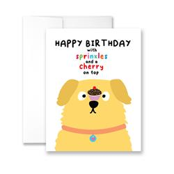 Happy Birthday With Sprinkles And Cherry on Top - Package of Six Greeting Cards