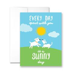 Every Day Spent With You Is A Sunny Day - Package of Six Greeting Cards
