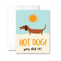 Hot Dog You Did It - Package of Six Greeting Cards