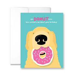 You Donut Know How Excited I am About Your Birthday - Package of Six Greeting Cards