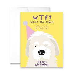 WTF? (What The Fluff) Didn't We Do This Last Year? Happy Birthday - Package of Six Greeting Cards