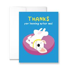 Thanks For Looking After Me - Package of Six Greeting Cards
